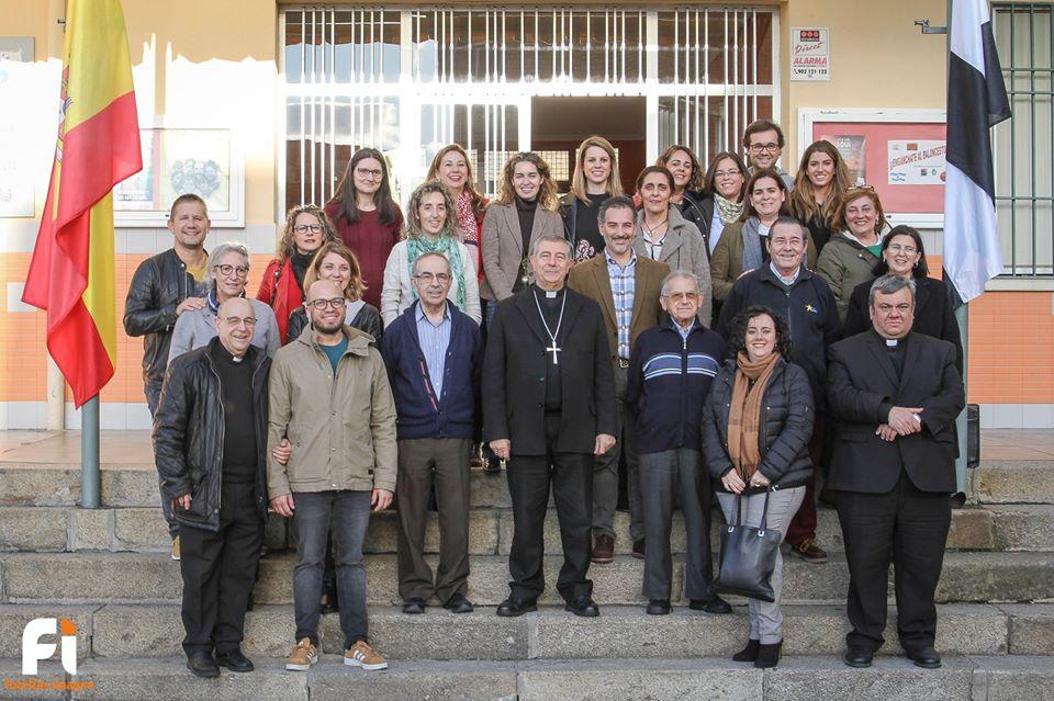 COLEGIO LA SALLE GUADALUPE- PLASENCIA (CÁCERES) Visita pastoral de Mons. José Luis Retana, Obispo, Diócesis de Plasencia