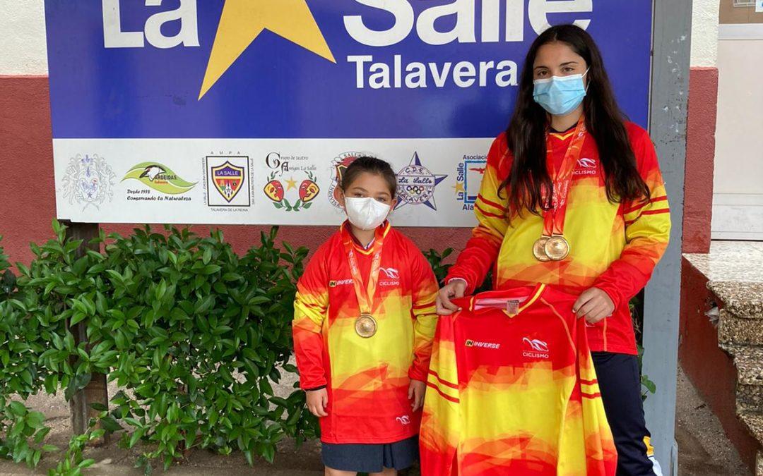 Dos alumnas de La Salle – Talavera, campeonas de España de BMX