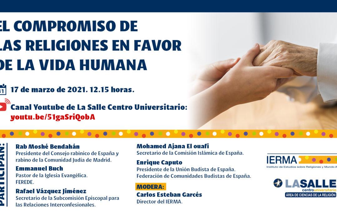 Nuevo acto de las religiones en favor de la vida humana en el Centro Universitario La Salle